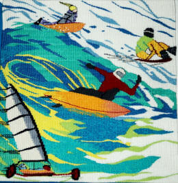 Surfing sports tapestry image
