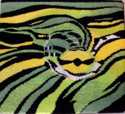 Turtle eye tapestry image